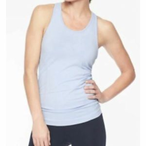 Athleta Speedlight Tank Top Fitted in Light Blue Size Small Athleisure